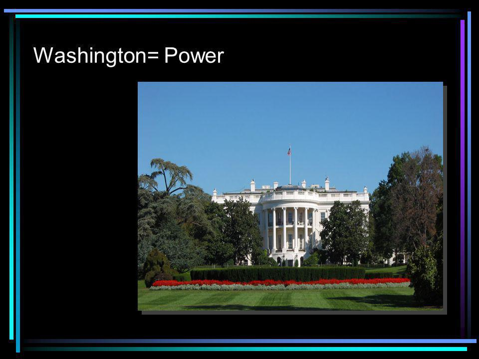 Washington= Power