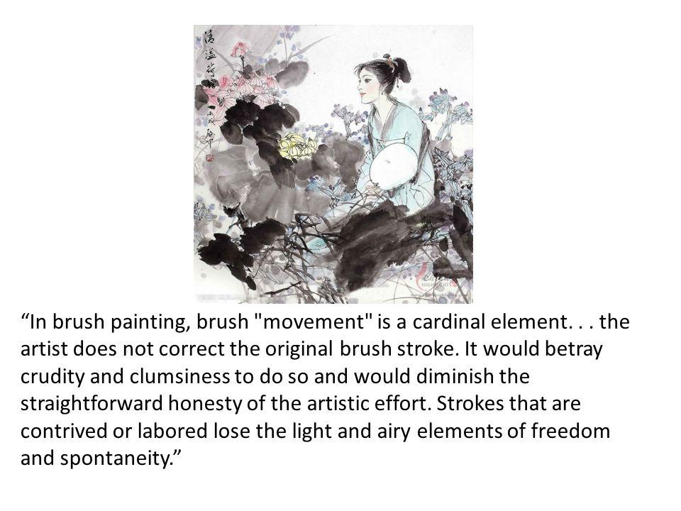 In brush painting, brush