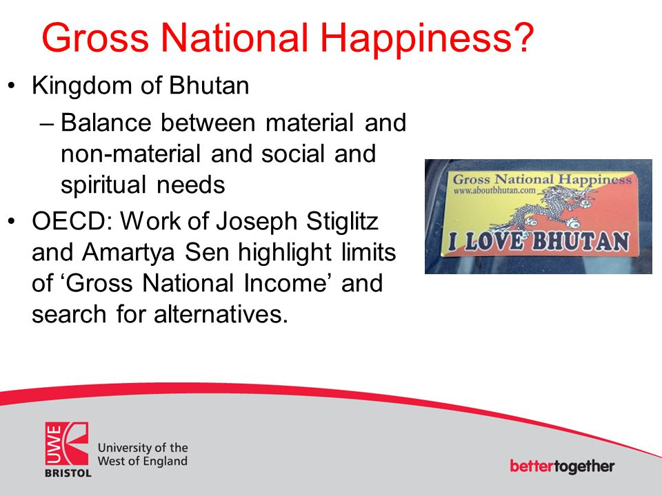 Gross National Happiness.