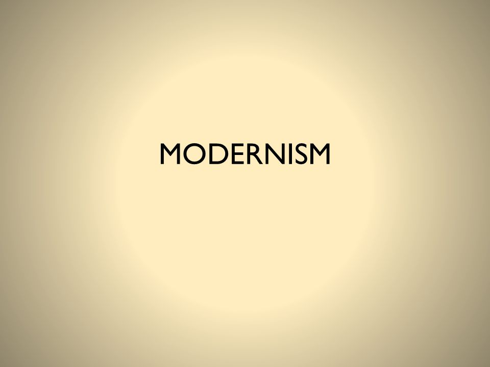 Modernism released us from the constraints of everything that had gone before with a euphoric sense of freedom.