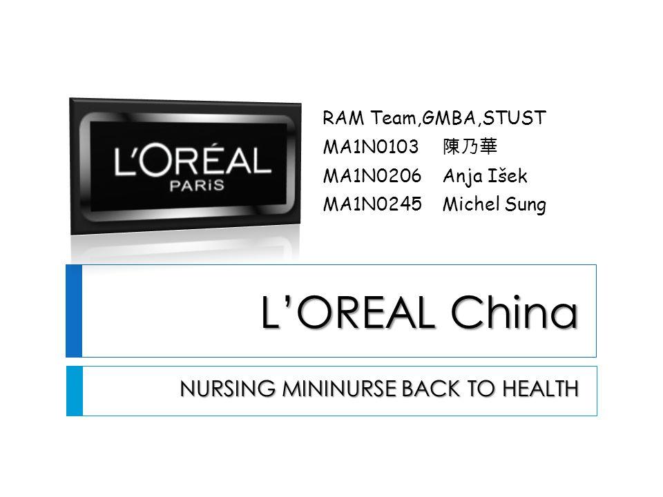 LOREAL China NURSING MININURSE BACK TO HEALTH NURSING MININURSE BACK TO HEALTH RAM Team,GMBA,STUST MA1N0103 MA1N0206Anja Išek MA1N0245Michel Sung