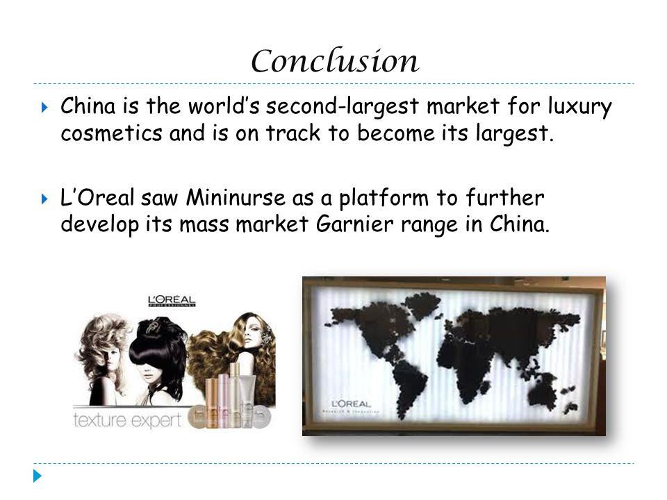 Current Situation New customers make up L Oreal sales in China New customers make up L Oreal sales in China SHANGHAI - Millions of new Chinese customers helped to drive up sales for the French cosmetics giant L Oreal SA.