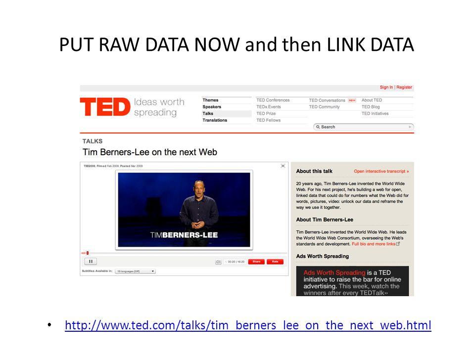 PUT RAW DATA NOW Text Data (numbers, statistics) Data (audio, video)