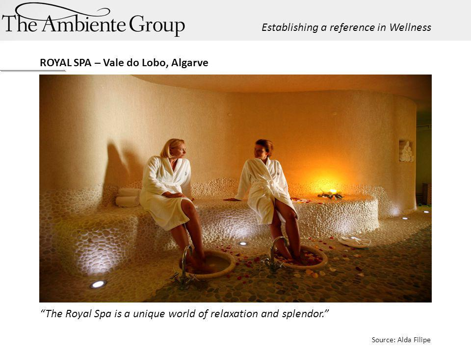 The Royal Spa is a unique world of relaxation and splendor. Source: Alda Filipe ROYAL SPA – Vale do Lobo, Algarve Establishing a reference in Wellness