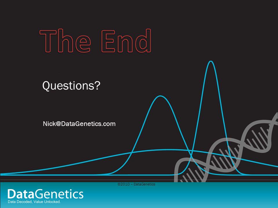 ©2010 – DataGenetics Questions.
