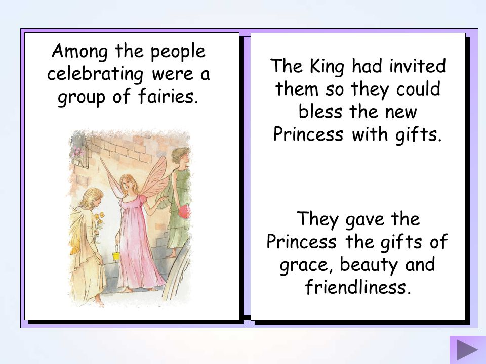Once upon a time there was a king who lived in a far away castle The King had invited many people to join the celebration. The Kings wife had just had