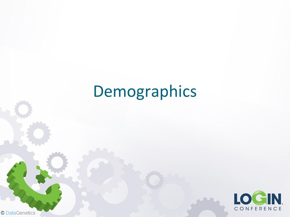 © DataGenetics Demographics