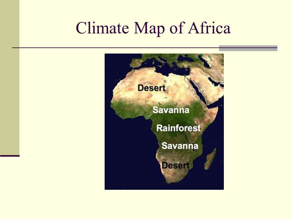 Climate Map of Africa