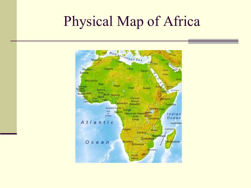 Physical Map of Africa