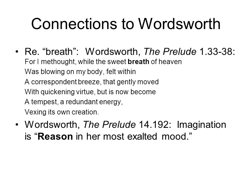 Connections to Wordsworth Re.