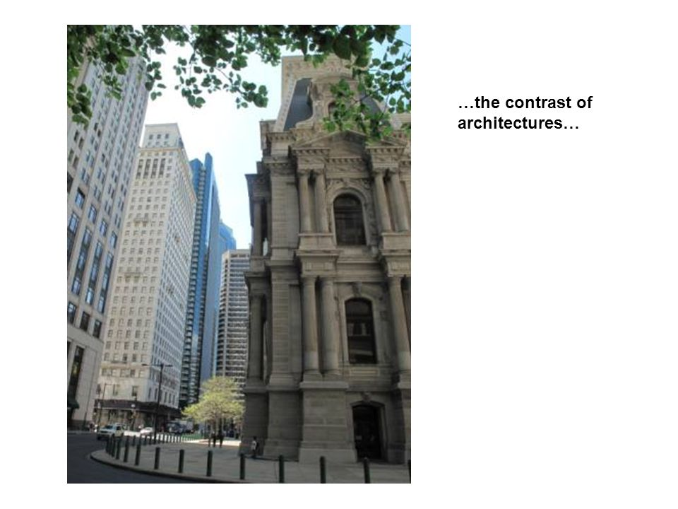 …the contrast of architectures…