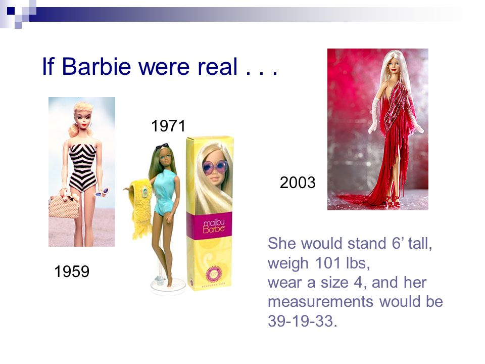 If Barbie were real...