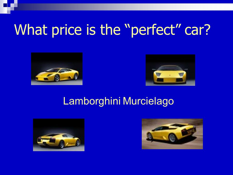 What price is the perfect car Lamborghini Murcielago