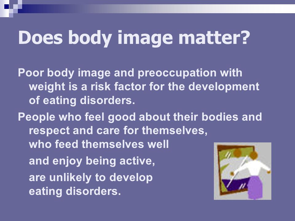 Does body image matter.