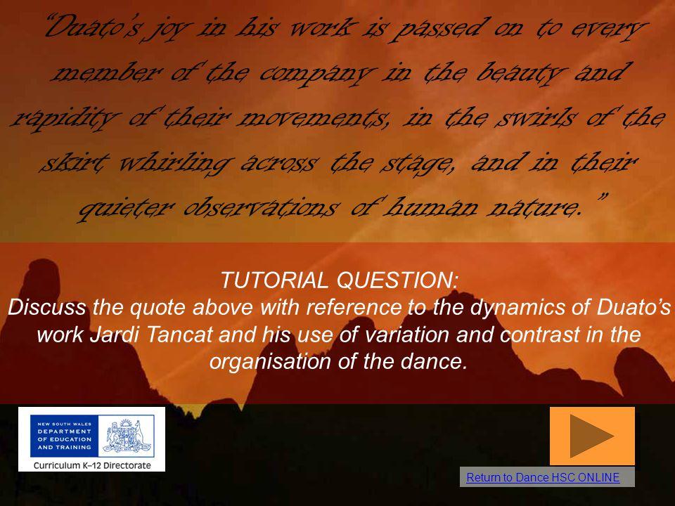 Return to Dance HSC ONLINE TASK 1: View Jardi Tancat.