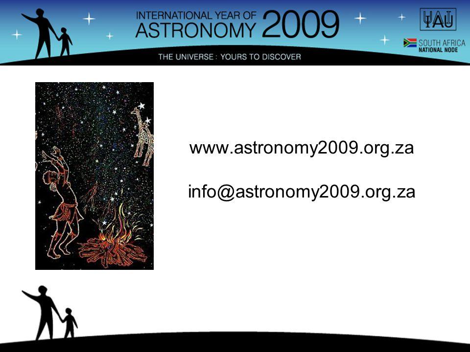 www.astronomy2009.org.za info@astronomy2009.org.za