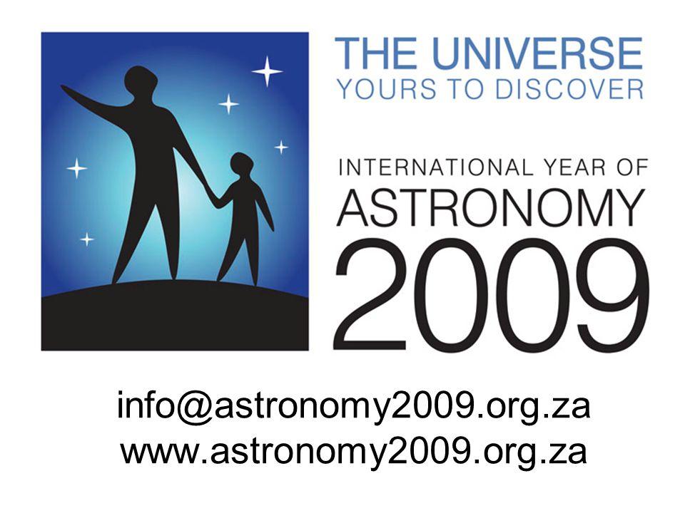 info@astronomy2009.org.za www.astronomy2009.org.za