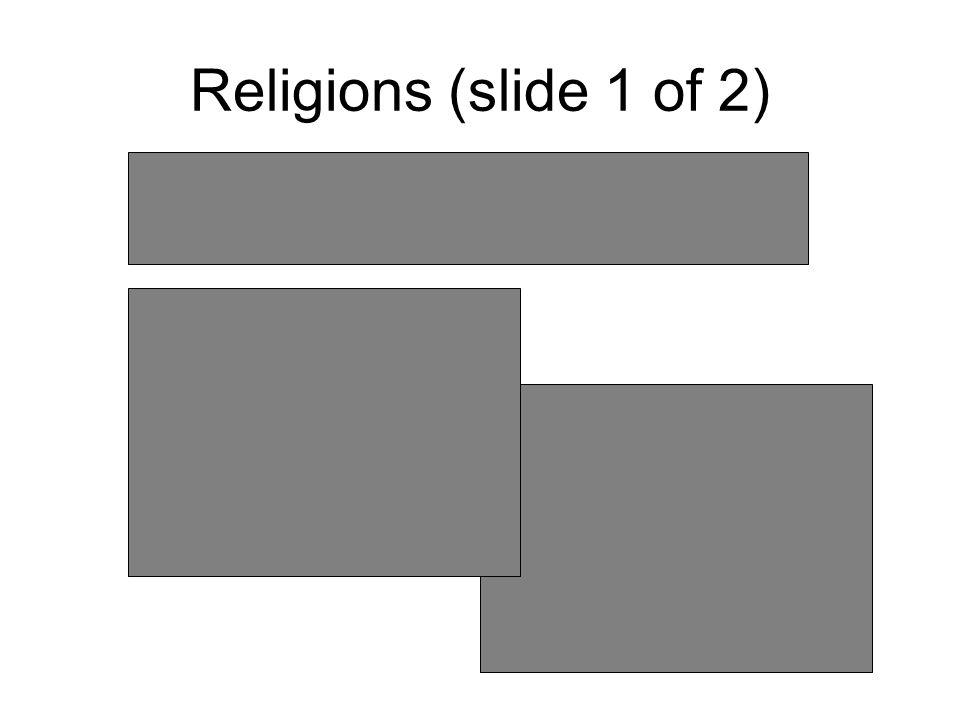 Religions (slide 1 of 2)
