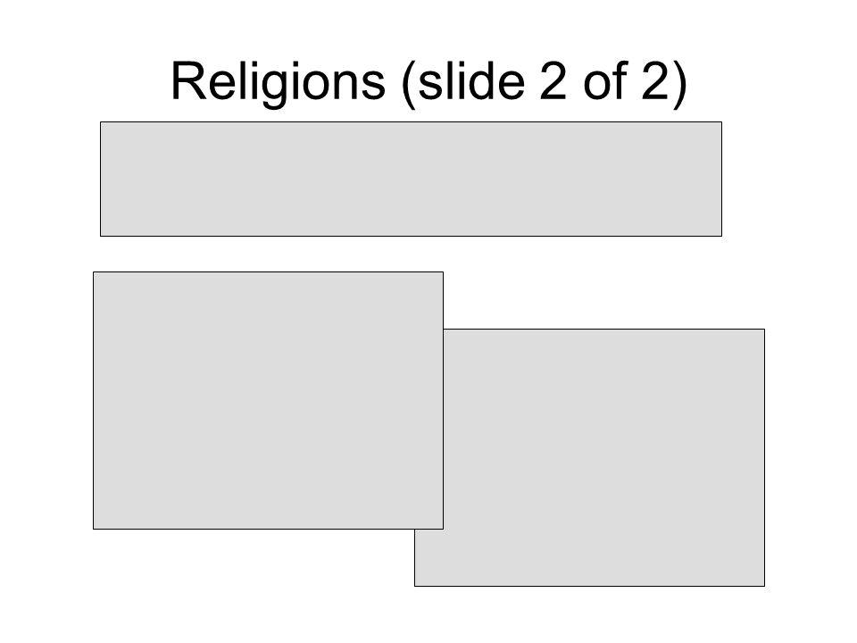 Religions (slide 2 of 2)