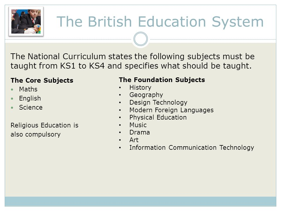The National Curriculum states the following subjects must be taught from KS1 to KS4 and specifies what should be taught.