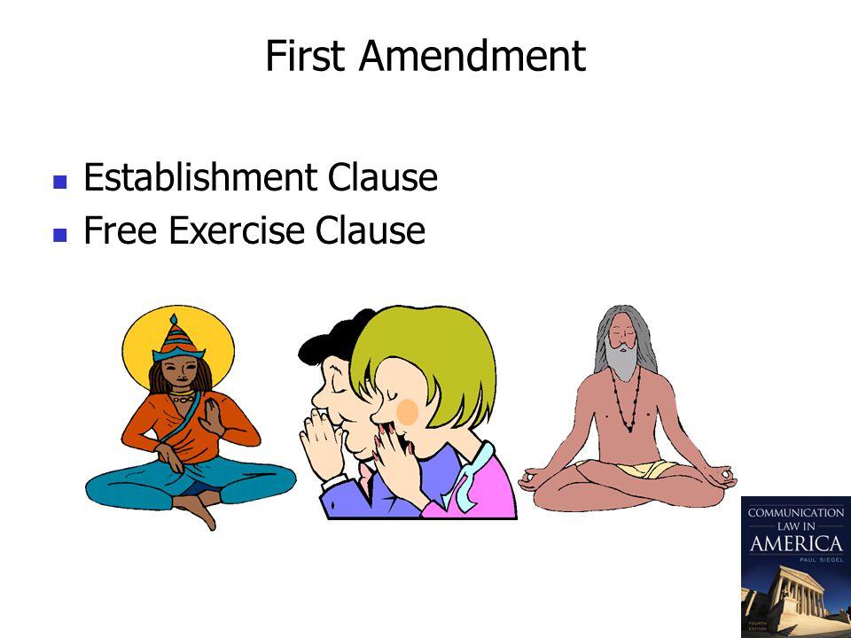 First Amendment Establishment Clause Free Exercise Clause
