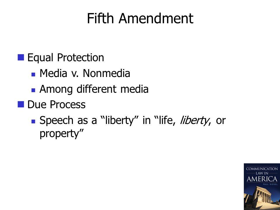Fifth Amendment Equal Protection Media v.