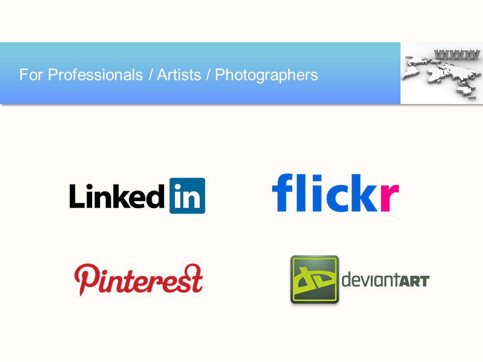 For Professionals / Artists / Photographers