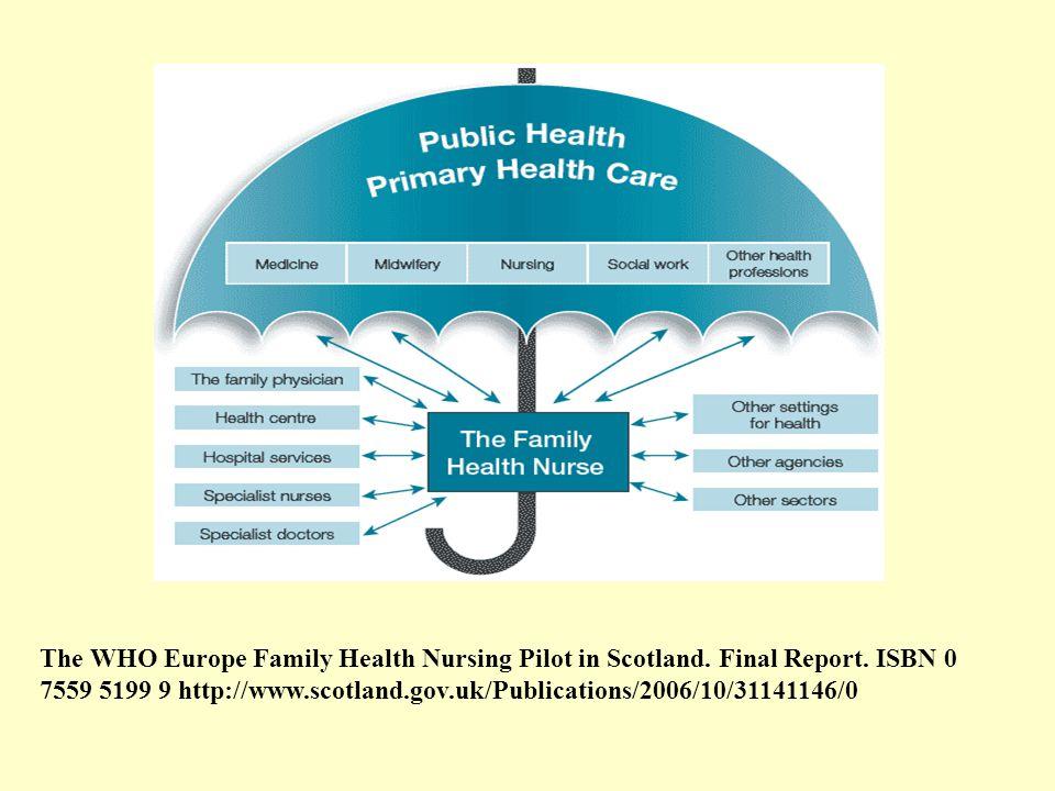 The WHO Europe Family Health Nursing Pilot in Scotland.