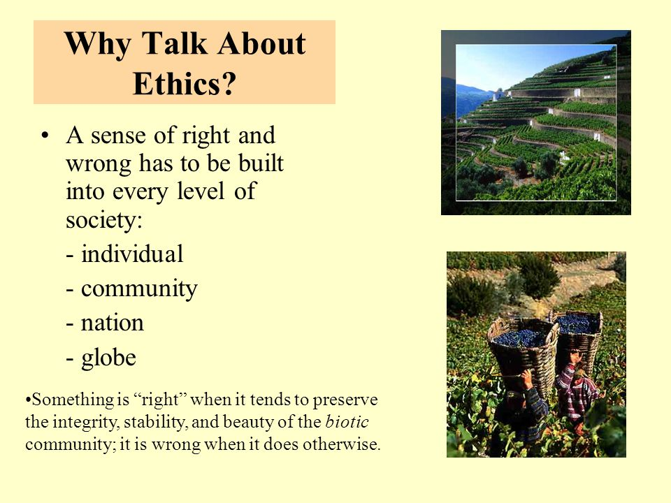 Why Talk About Ethics.