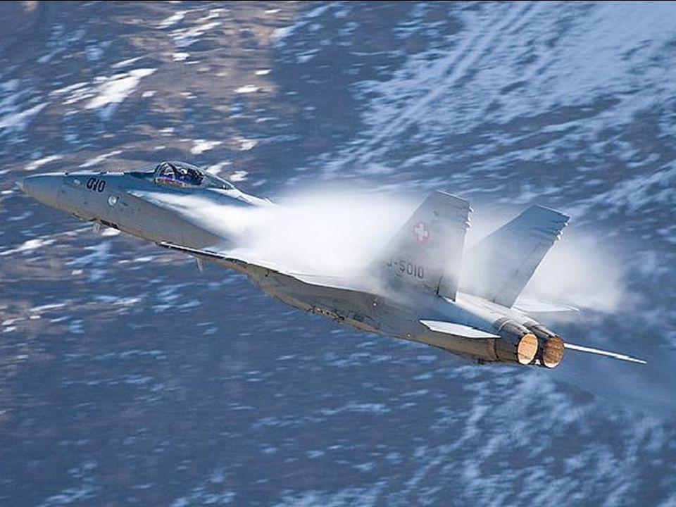 Some aircraft in the Swiss Air Force have the inside of the engine exhaust ports painted yellow making it appear that the after-burners are on.