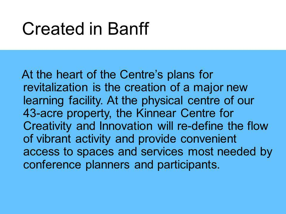 At the heart of the Centres plans for revitalization is the creation of a major new learning facility.
