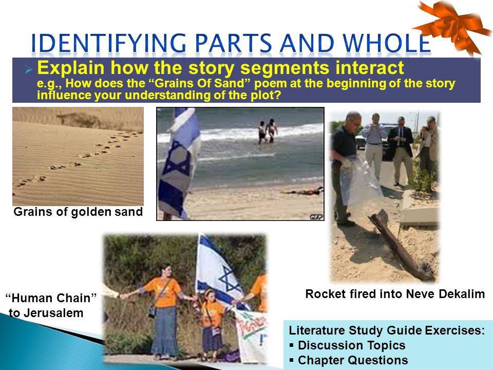 Explain how the story segments interact e.g., How does the Grains Of Sand poem at the beginning of the story influence your understanding of the plot.