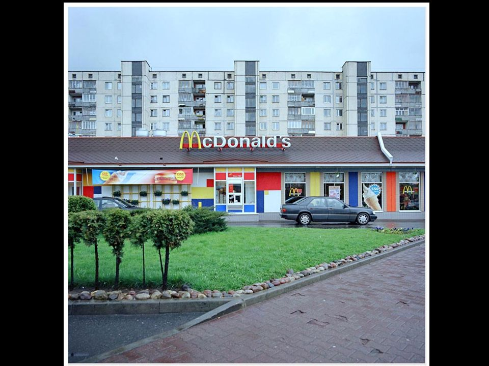 The colourful, globalized world does sometimes enter Belarusian cities.