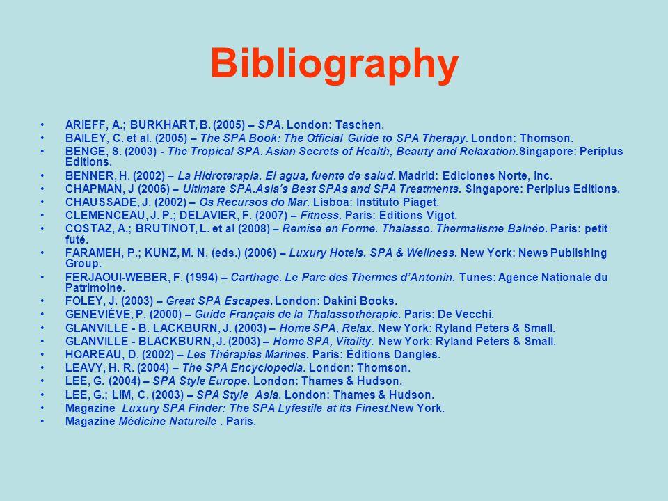 Bibliography ARIEFF, A.; BURKHART, B. (2005) – SPA.