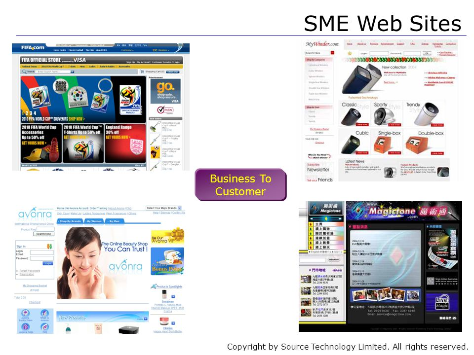 Copyright by Source Technology Limited. All rights reserved. SME Web Sites Business To Customer
