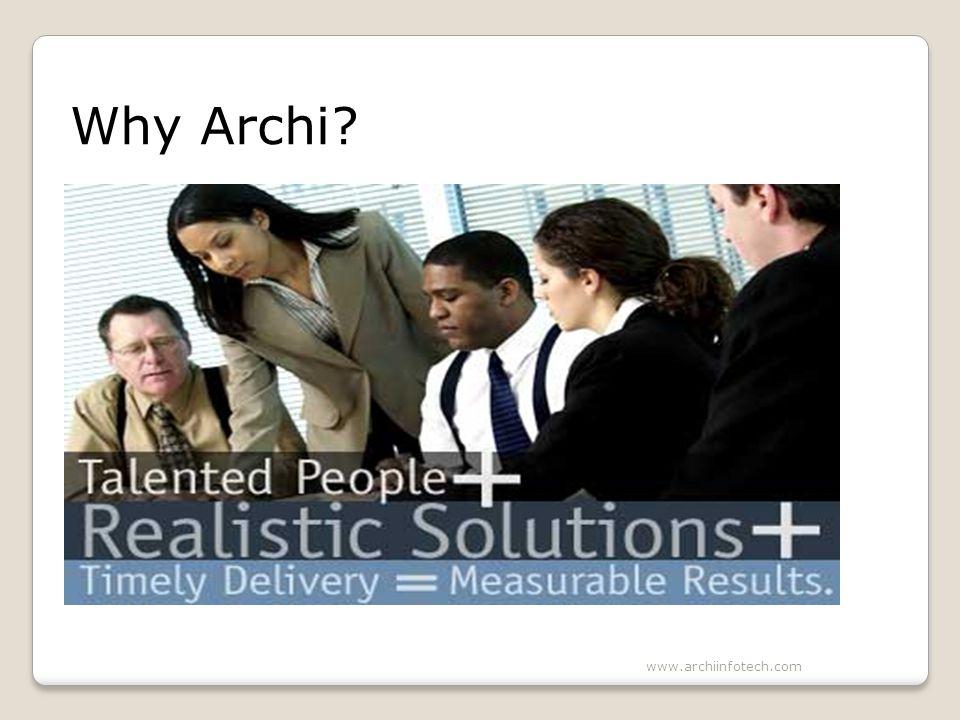 Why Archi www.archiinfotech.com