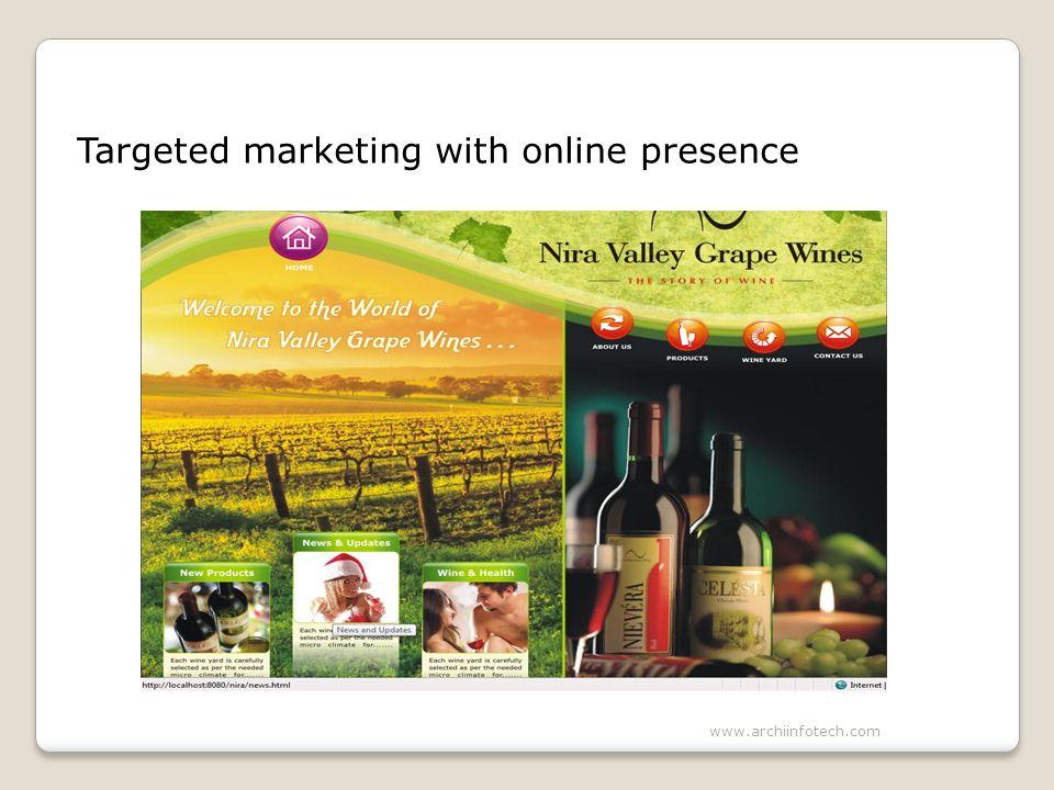 Targeted marketing with online presence www.archiinfotech.com
