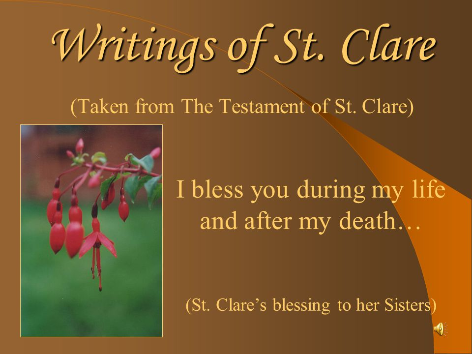 Writings of St.Clare (Second letter of St.