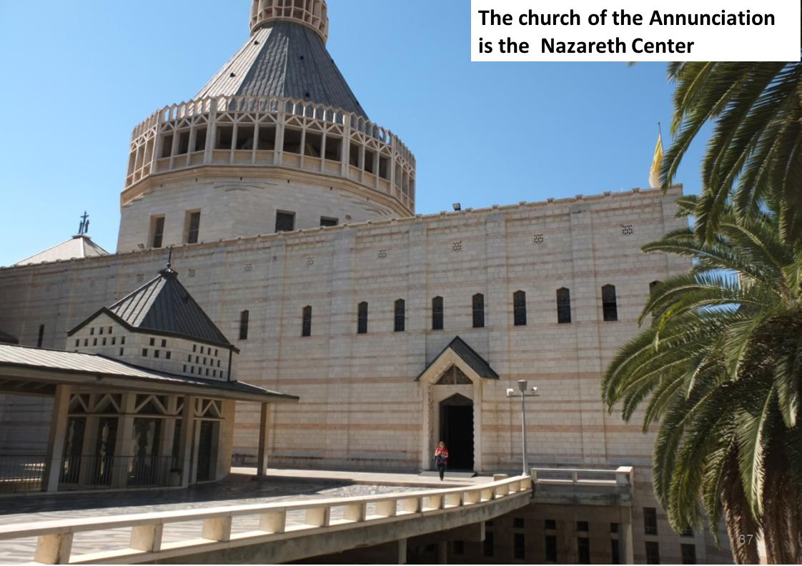 The church of the Annunciation is the Nazareth Center 37