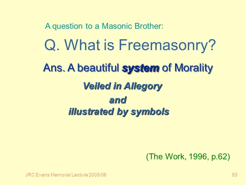 JRC Evans Memorial Lecture 2005/0653 system Ans.