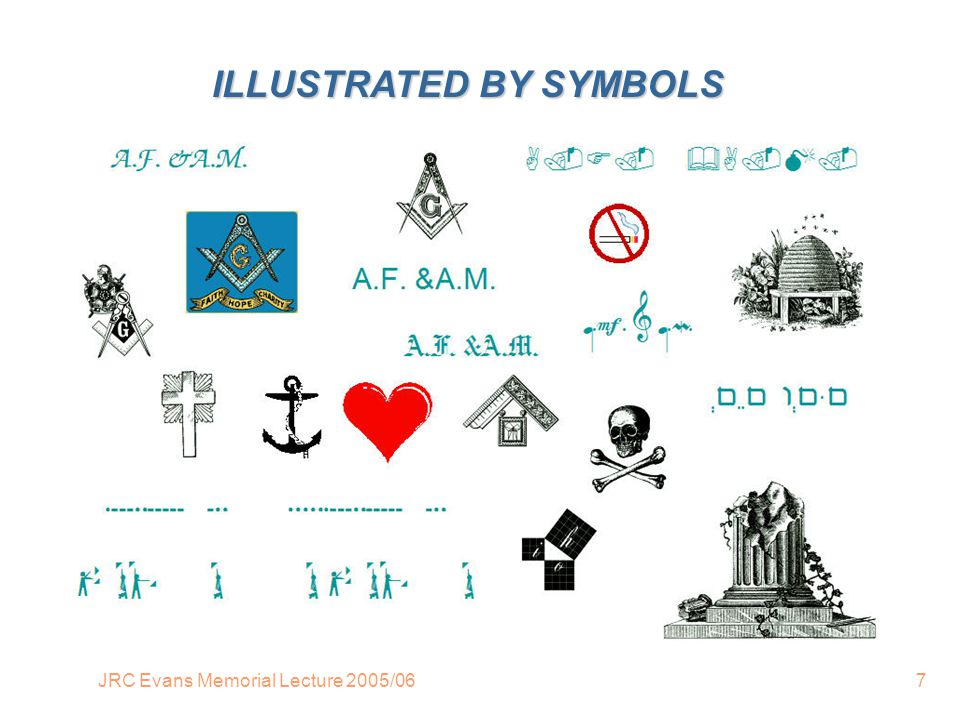 JRC Evans Memorial Lecture 2005/067 ILLUSTRATED BY SYMBOLS