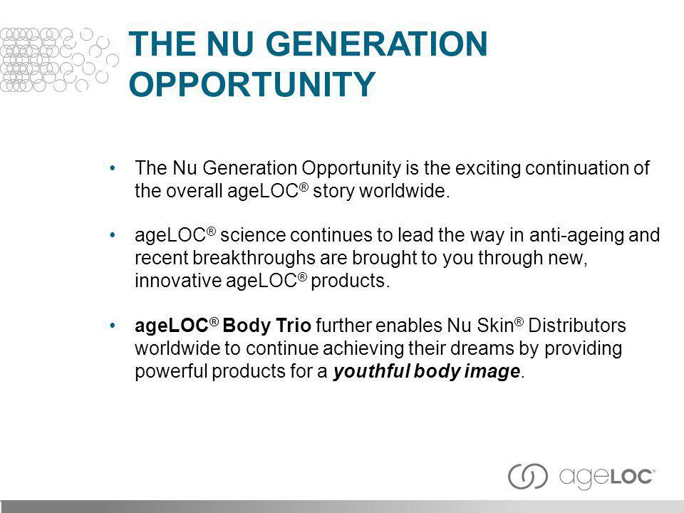 Daily moisturising and contouring lotion scientifically formulated to bring ageLOC ® anti-ageing benefits to the body.