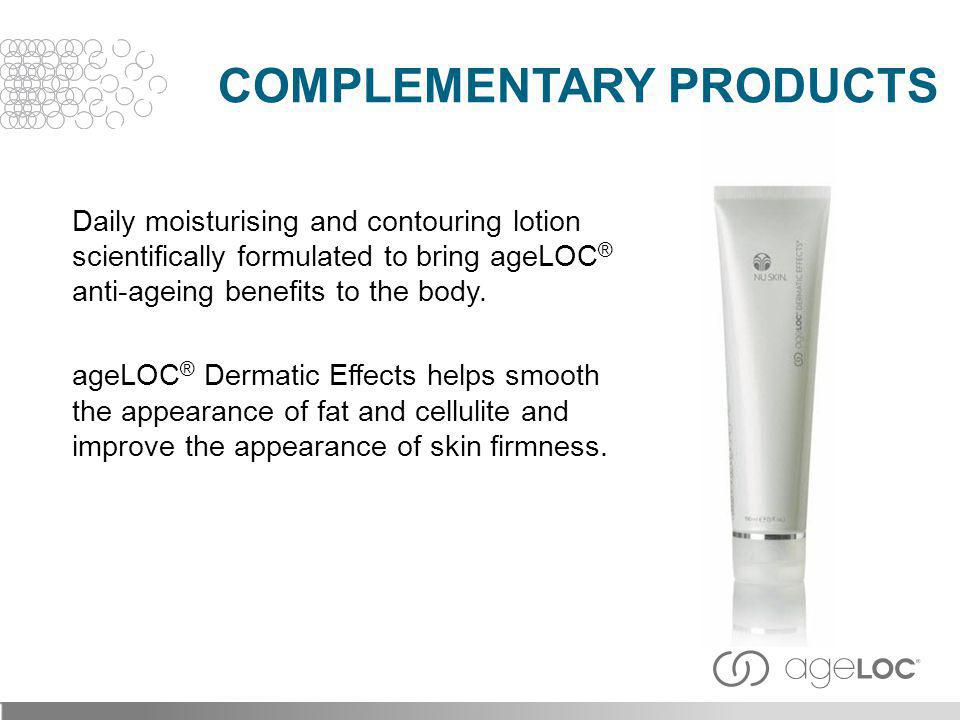 Daily moisturising and contouring lotion scientifically formulated to bring ageLOC ® anti-ageing benefits to the body. ageLOC ® Dermatic Effects helps