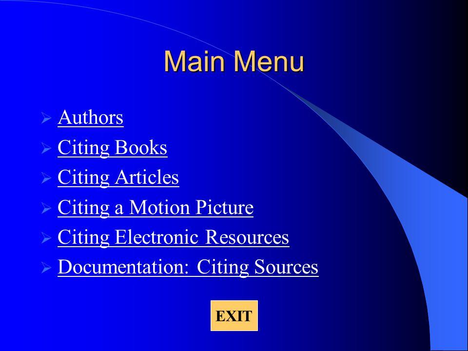 Documentation: Citing Sources Parenthetical documentation References