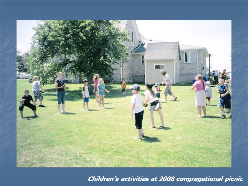 Childrens activities at 2008 congregational picnic