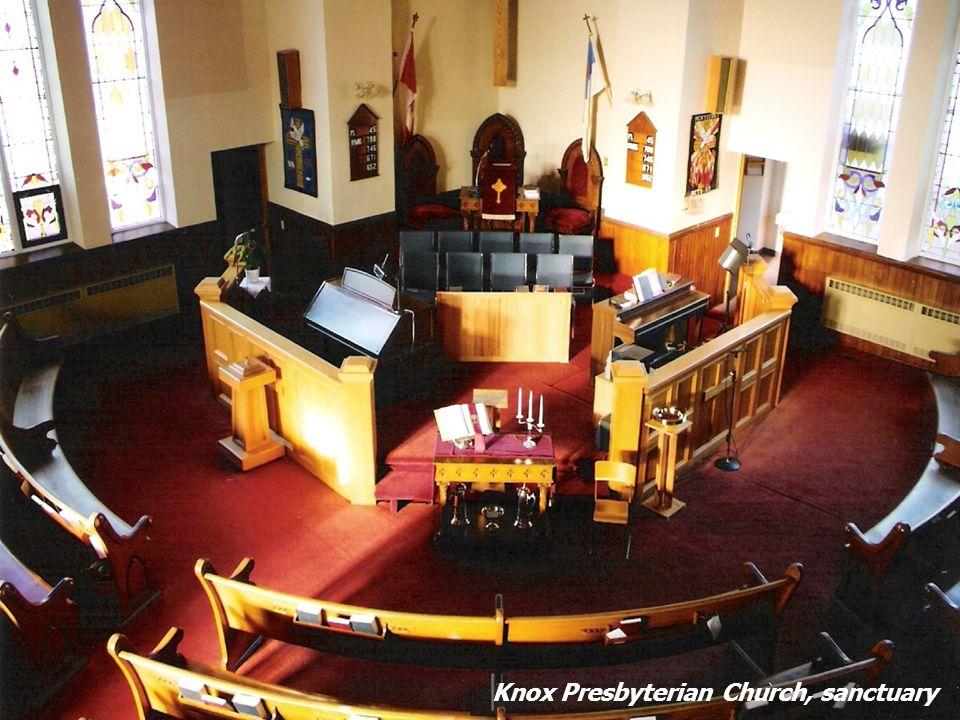 Knox Presbyterian Church, sanctuary