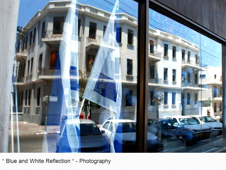 Blue and White Reflection - Photography