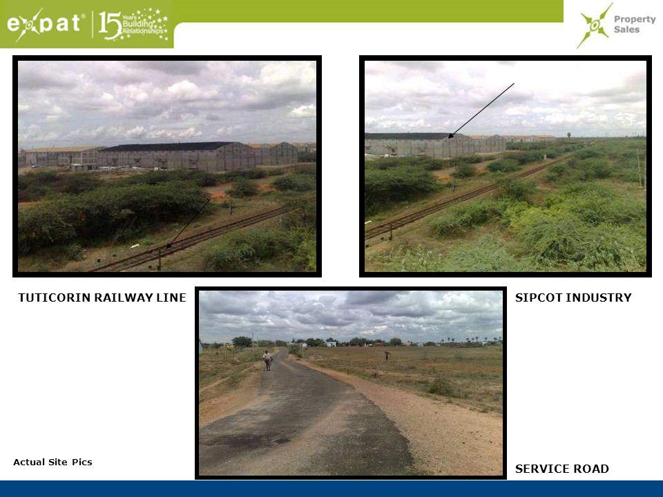 SIPCOT INDUSTRYTUTICORIN RAILWAY LINE SERVICE ROAD Actual Site Pics