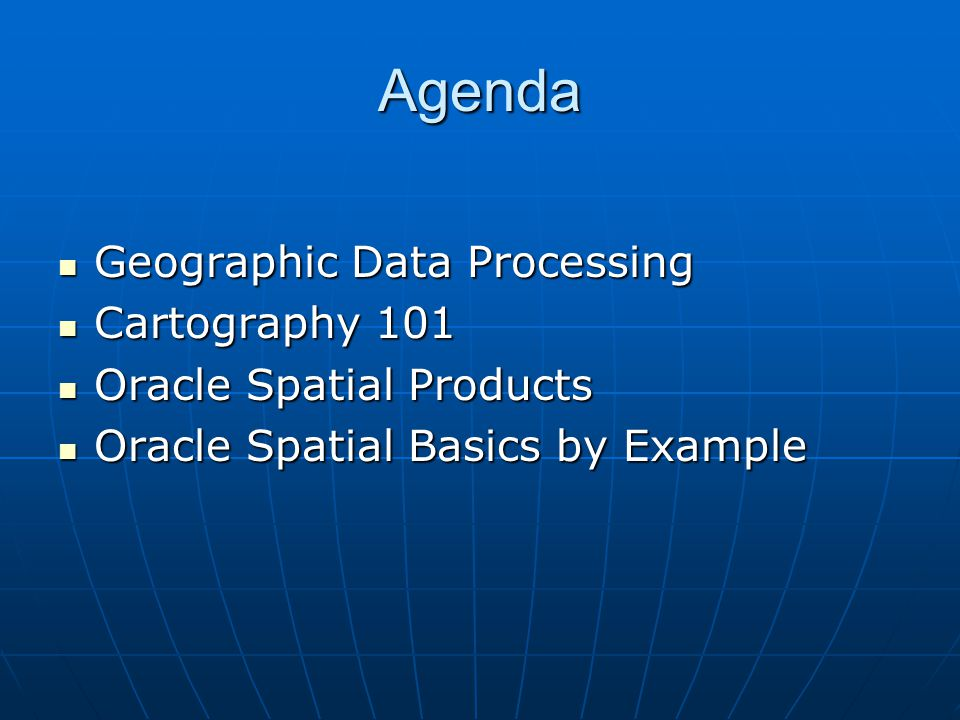Oracle Spatial by Example Road Data: Source seamless.usgs.gov Bureau of Transportation Statistics from U.S.