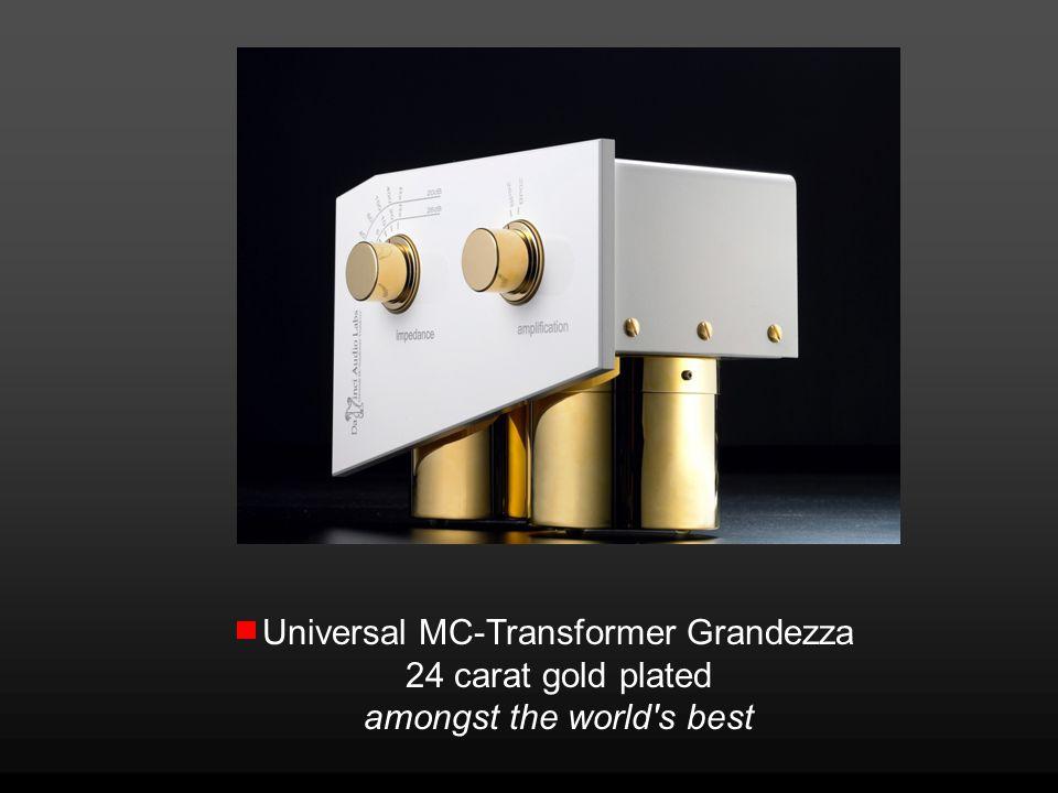 Universal MC-Transformer Grandezza 24 carat gold plated amongst the world's best